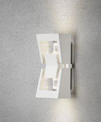 Konstsmide Potenza vägglykta vitlackerad aluminium High Power LED, dimbar. 7971-250