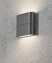 Konstsmide Chieri vägglykta 2x3W High Power LED mörkgrå. 7972-370