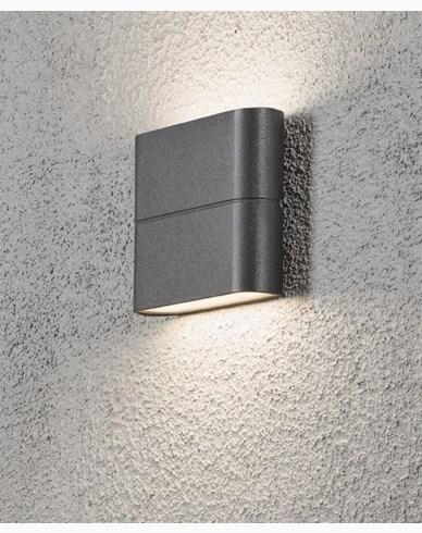 Konstsmide Chieri vegglampe 2x3W High Power LED grå. 7972-370