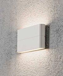 Konstsmide Chieri vägglykta High Power LED 2X6W. Vit 7973-250