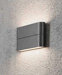 Konstsmide Chieri vegglampe High Power LED 2X6W. Antracitgrå 7973-370