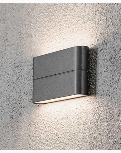 Konstsmide Chieri vägglampa High Power LED 2X6W. Antracitgrå 7973-370