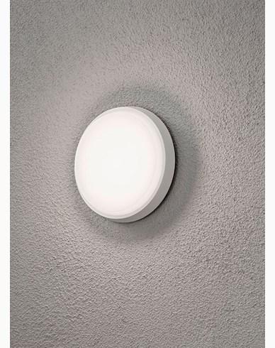 Konstsmide Cesena vegglampe 10W LED rund Hvit. 7974-250