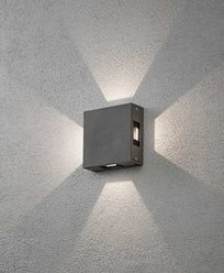 Konstsmide Cremona vegglampe High Power LED. Antracitgrå 7984-370
