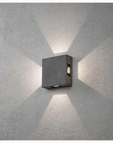 Konstsmide Cremona vägglampa High Power LED. Antracitgrå 7984-370