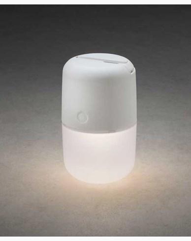 Konstsmide Assisi solar / USB lampe hengende/stående LED, dimbar hvit. 7805-202