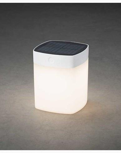 Konstsmide Assisi kvadrat solcell LED 1W dimbar vit. 7806-202