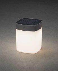 Konstsmide Assisi kvadrat solcell LED 1W dimbar grå. 7806-302