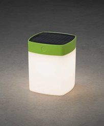 Assisi kvadrat solcell LED 1W dimbar grön. 7806-602