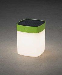 Konstsmide Assisi kvadrat solenergi LED 1W dimbare grønn. 7806-602