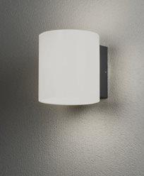 Konstsmide Foggia vägglampa High Power LED 10W mörkgrå/opal glas. 7859-372