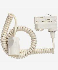 MAXEL - 3-fas adapter skarvut. spiralsladd vit