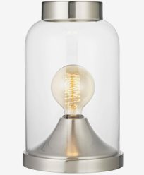Lighting By Havsö Bordlampe Glassbeholder - Sølv. Maks 40W E27.