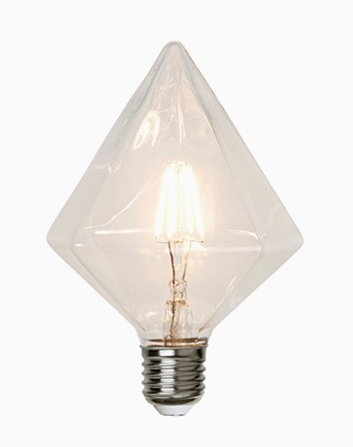 Star Trading Illumination LED filament Diamantformet lampe E27 3,2W (30W) Dimmerkomp.