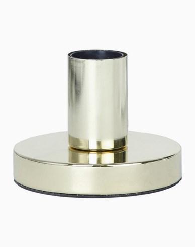 GLANS lampfot i metall, E27, 8,5 cm, mässing