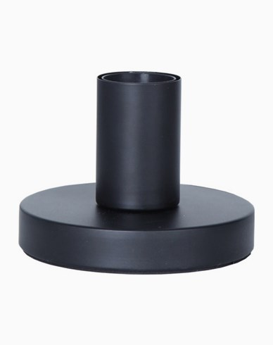 GLANS lampfot i metall, E27, 8,5 cm, svart