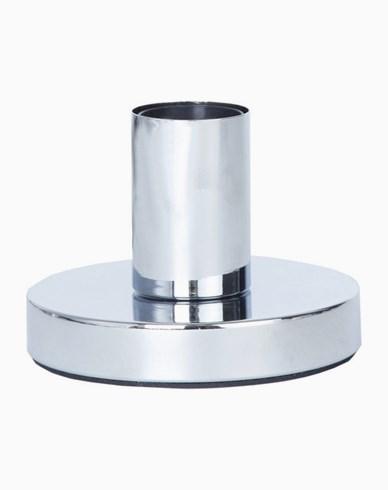 GLANS lampfot i metall, E27, 8,5 cm, krom