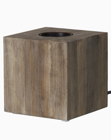 KUB E27 lamphållare 9x9cm, brun