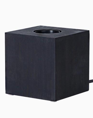 KUB E27 lamphållare 9x9cm, svart