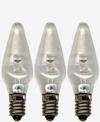 Universal LED Lampa E10 10-55V, klar 3-pack