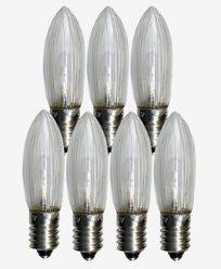 Universal LED Bulb konkav E10 10-55V klar 7-pack