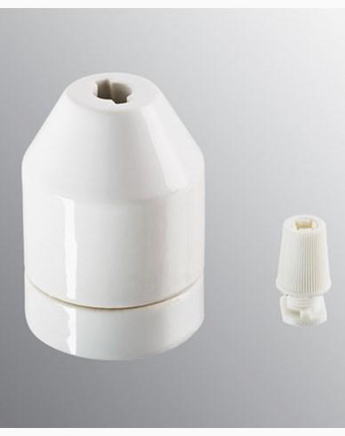 Ifö Electric KLACK pendel hvit, uten kabel. IP20, E27 med avlaster