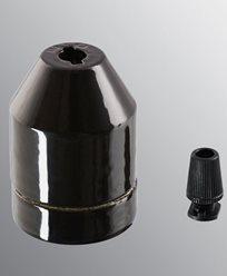 Ifö Electric KLACK pendel svart, uten kabel. IP20, E27 med avlaster
