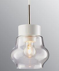 Ifö Electric EMMA Pendel klarglass vit/vit kabel IP20, E27, max 60W, 2m tekstilk