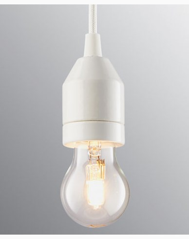 Ifö Electric KLACK Pendel vit/vit IP20, E27, max 60W, 2m