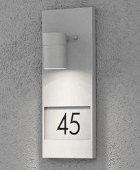 Konstsmide Modena vegglykte med husnummer 7655-300 Grå