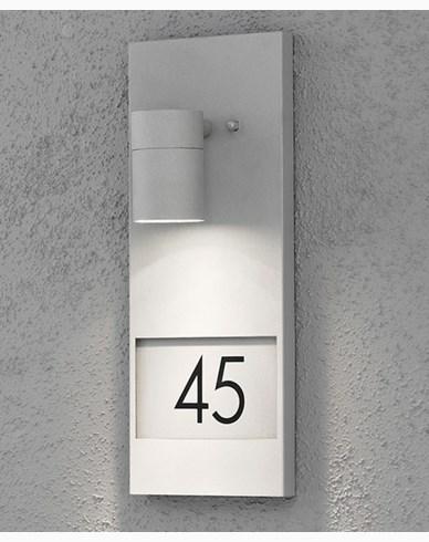 Konstsmide Modena vägglykta med husnummer 7655-300 Grå