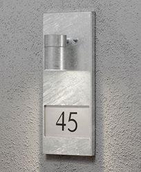 Konstsmide Modena vegglykte med husnummer 7655-320 Galvanisert