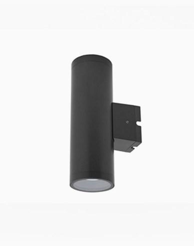 MAXEL Vegglampe utendørs LED ZENIT 2x5,6W 20° 3000K Antracit
