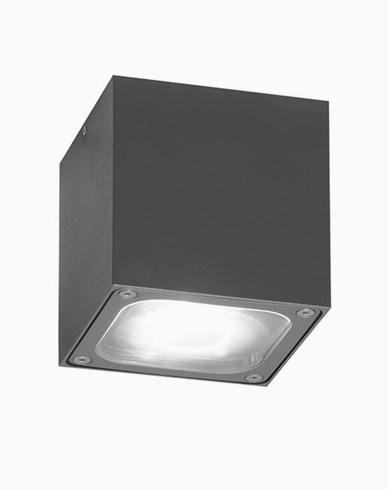 Konstsmide Cesena taklykta 6W LED 7852-370 Mörkgrå