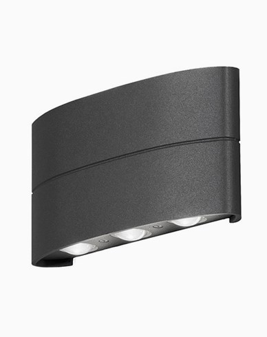 Konstsmide Chieri vägglykta 6x1W LED 7853-370 Mörkgrå