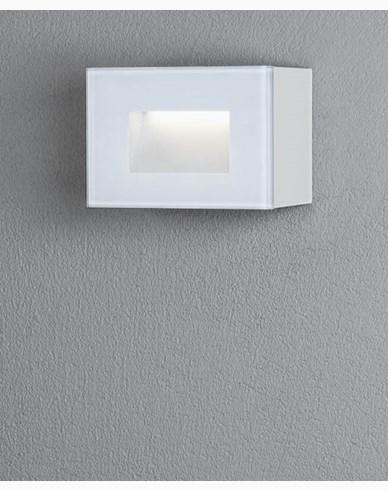 Konstsmide Chieri vägglykta 4W LED rektangulär vit
