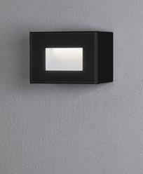 Konstsmide Chieri vägglykta 4W  LED rektangulär svart