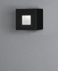 Konstsmide Chieri vägglykta 1,5W LED kvadrat svart