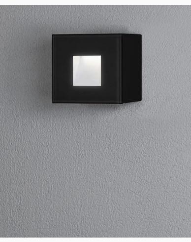 Chieri vegglampe 1,5W LED firkantet svart