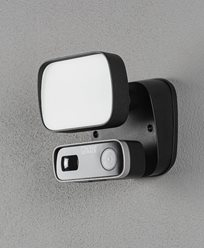 Konstsmide Smartlight 10W svart, Kamera, høyttaler.. Mikr, Wifi