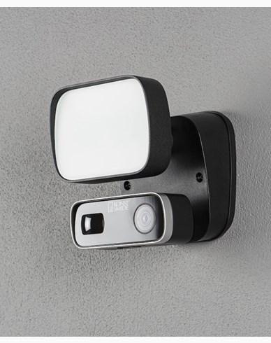 Konstsmide Smartlight 10W svart, Kamera, Högtal. Mikr, Wifi