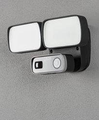 Konstsmide Smartlight 24W svart, Kamera, Högtal. Mikr, Wifi