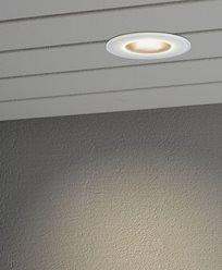 Konstsmide Inbyggd takspot 6W HP LED vit/glas front
