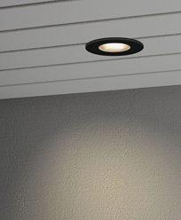 Konstsmide Inbyggd takspot 6W HP LED svart/glas front