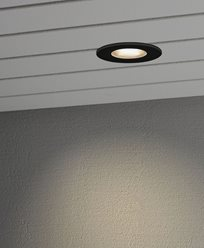 Konstsmide Inne takspot HP 6W LED svart / glass foran