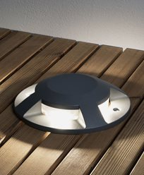 Konstsmide Markspot LED 12W mørkegrå 4-veis overliggende