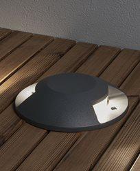Konstsmide Markspot LED 10W mörkgrå 2-väg ovanpåliggande