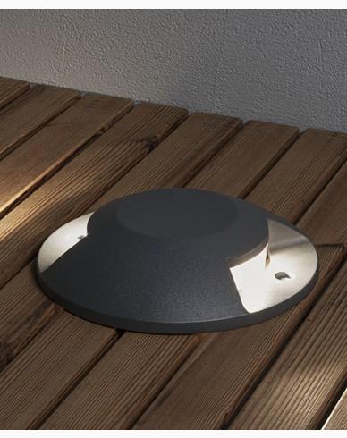 Konstsmide Markspot LED 10W mørkegrå 2-veis overliggende