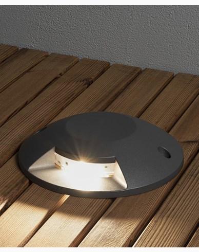 Konstsmide Markspot LED 5W mörkgrå 1-väg ovanpåliggande