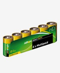 Airam Heavy Duty Plus R14 (C) 1,5V batterier 6-pack
